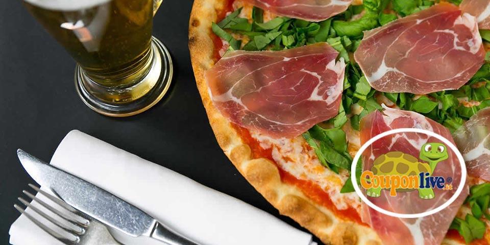 TRANI. Menù Pizza con antipasti, pizza,  bibita e digestivo,  valido tutti i giorni a Cena da soli Euro  15,90 a coppia, da Ogni Volta ..in  Pizzeria.