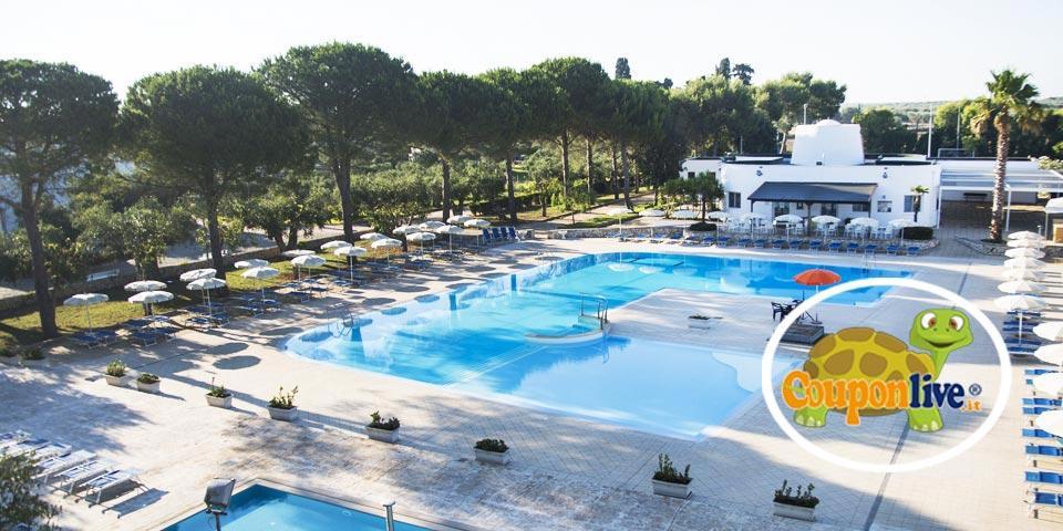 PRENOTA PRIMA,dal 18 al 25 Luglio a Minervino di Lecce(Puglia), 7 Notti in Pensione Completa da Euro 435,00 a persona, da Dolmen Sport Resort.