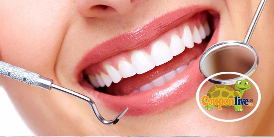 BARI. 1 o 2 Visite dentistiche con  telecamera, pulizia  denti, smacchiamento e otturazione a partire da Euro 15,00,  dal  Dr. Renato Fiore.