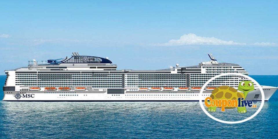 MSC GRANDIOSA, da CIVITAVECCHIA dal 25 Agosto al 1 Settembre 2021, Tasse portuali e assicurazione inclusa, a partire da Euro 819,00