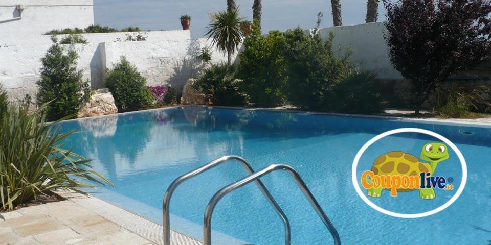 MONOPOLI. 1 o 2 Notti in Mezza Pensione con Utilizzo Piscina e Spiaggia da Euro 199,00 a coppia, da Masseria Donnaloia Resort & SPA.