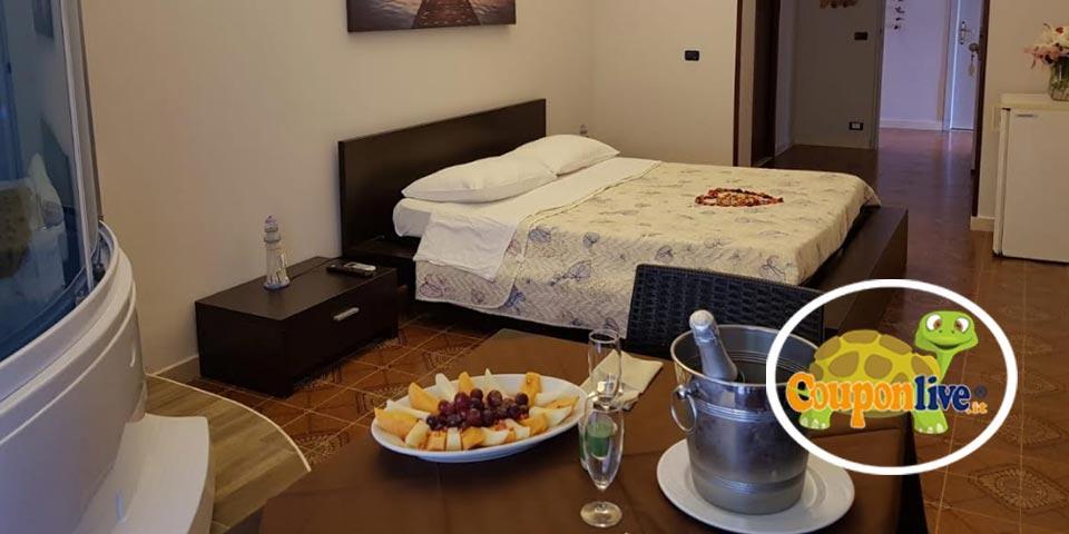 LEPORANO MARINA(TA). 1  Notte in Mezza pensione in Suite con Spa in camera a partire da 109,00 a coppia da Hotel Ristorante Baia del Pescatore.