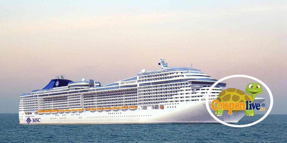 NATALE IN CROCIERA, MSC FANTASIA, da NAPOLI dal 21 al 28 Dicembre 2021, Tasse portuali e assicurazione inclusa, a partire da Euro 1290,00 a coppia.