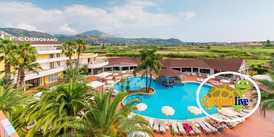 PRENOTA PRIMA,Dal 18 al 25 Luglio a Grisolia(Calabria), 7 Notti in Pensione Completa  a partire da Euro 1379,00 a camera, da Valtur Cormorano Resort.