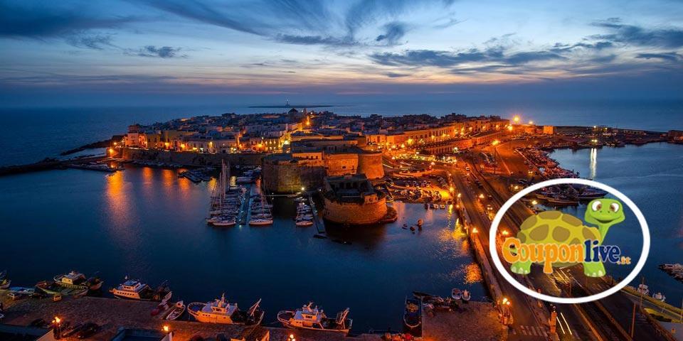 GALLIPOLI . 1 Notte con colazione valido anche nei week-end con servizio spiaggia  a soli 65,00 Euro  a coppia, da B&b Le Onde del Mare